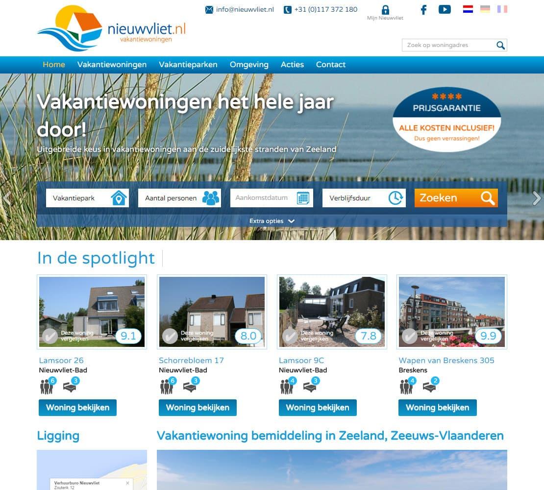 Nieuwvliet vakantiewoningen