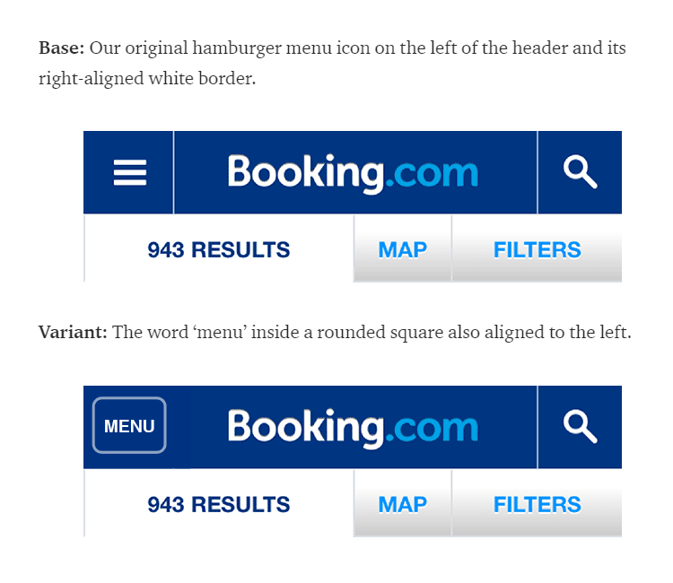 A/B splittest van Booking.com
